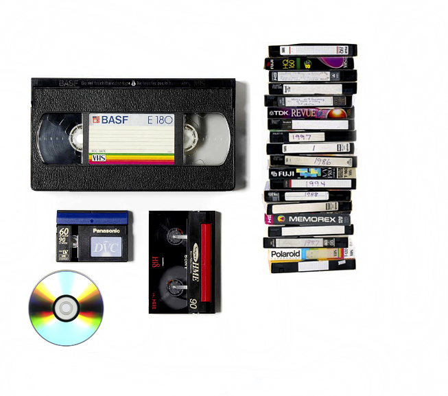 shows video tape, dvd disc & camcorder tapes